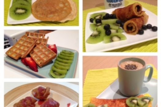 Una mezcla, 5 opciones diferentes para un desayuno healthy